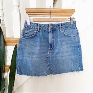 TOPSHOP MOTO denim jeans mini skirt sz 6
